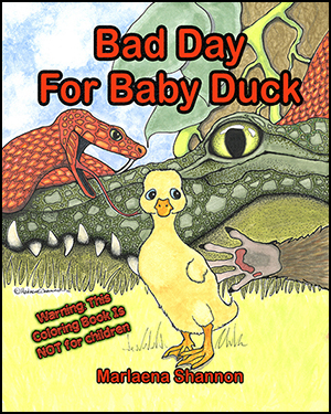 Bad Day for Baby Duck Coloring Book